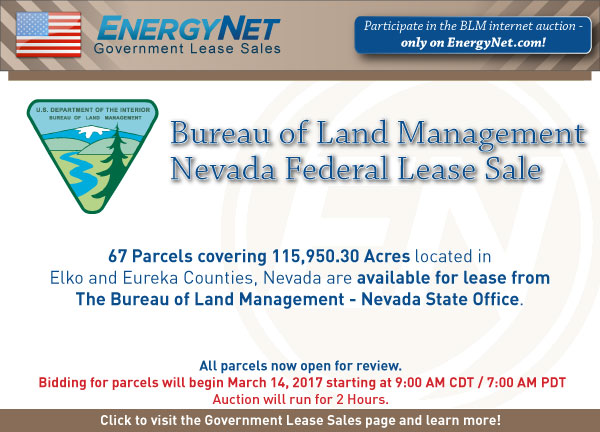 BLM Auction March2017 Nevada Updated